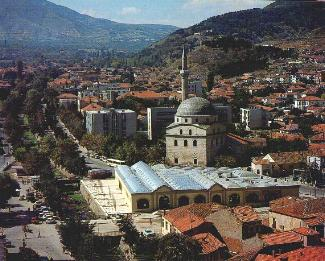 Covered market place and Isac Mosque in Bitola