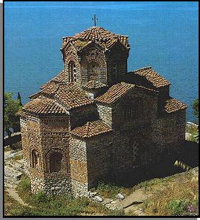 St. Jovan Church in Ohrid, Macedonia